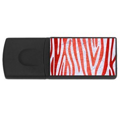 Skin4 White Marble & Red Brushed Metal Rectangular Usb Flash Drive by trendistuff