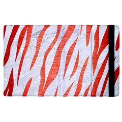 Skin3 White Marble & Red Brushed Metal (r) Apple Ipad Pro 12 9   Flip Case