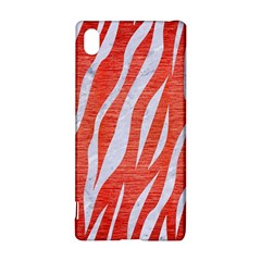 Skin3 White Marble & Red Brushed Metal Sony Xperia Z3+ by trendistuff