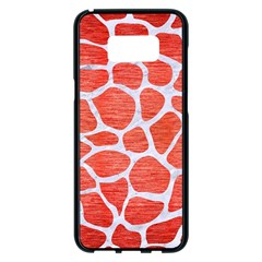 Skin1 White Marble & Red Brushed Metal (r) Samsung Galaxy S8 Plus Black Seamless Case