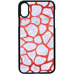 Skin1 White Marble & Red Brushed Metal Apple Iphone X Seamless Case (black)