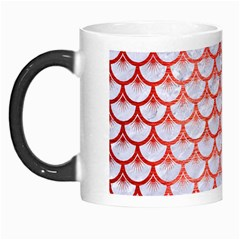 Scales3 White Marble & Red Brushed Metal (r) Morph Mugs by trendistuff
