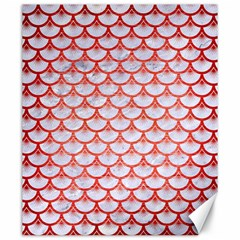 Scales3 White Marble & Red Brushed Metal (r) Canvas 20  X 24   by trendistuff