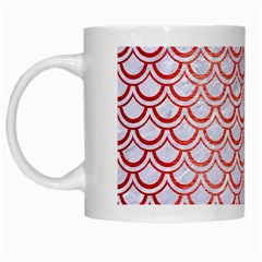 Scales2 White Marble & Red Brushed Metal (r) White Mugs by trendistuff