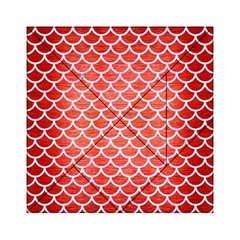 Scales1 White Marble & Red Brushed Metal Acrylic Tangram Puzzle (6  X 6 )