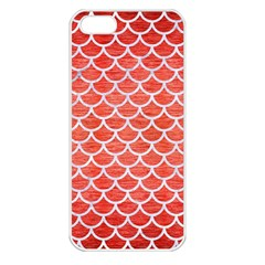 Scales1 White Marble & Red Brushed Metal Apple Iphone 5 Seamless Case (white) by trendistuff