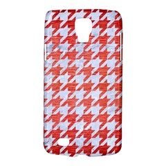 Houndstooth1 White Marble & Red Brushed Metal Galaxy S4 Active by trendistuff
