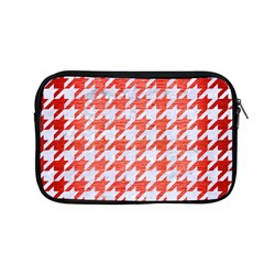 Houndstooth1 White Marble & Red Brushed Metal Apple Macbook Pro 13  Zipper Case by trendistuff
