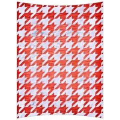 Houndstooth1 White Marble & Red Brushed Metal Back Support Cushion
