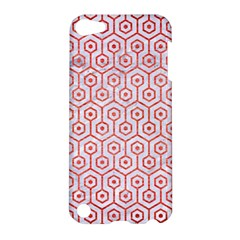 Hexagon1 White Marble & Red Brushed Metal (r) Apple Ipod Touch 5 Hardshell Case by trendistuff