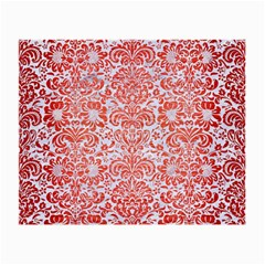 Damask2 White Marble & Red Brushed Metal (r) Small Glasses Cloth by trendistuff