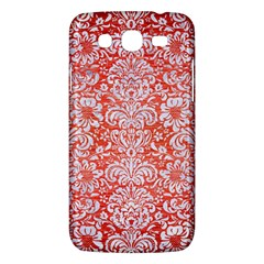 Damask2 White Marble & Red Brushed Metal Samsung Galaxy Mega 5 8 I9152 Hardshell Case  by trendistuff
