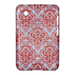 Damask1 White Marble & Red Brushed Metal (r) Samsung Galaxy Tab 2 (7 ) P3100 Hardshell Case  by trendistuff