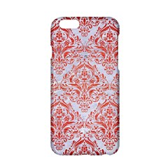 Damask1 White Marble & Red Brushed Metal (r) Apple Iphone 6/6s Hardshell Case by trendistuff