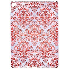 Damask1 White Marble & Red Brushed Metal (r) Apple Ipad Pro 12 9   Hardshell Case by trendistuff