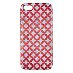 Circles3 White Marble & Red Brushed Metal (r) Iphone 5s/ Se Premium Hardshell Case by trendistuff