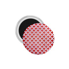 Circles3 White Marble & Red Brushed Metal 1 75  Magnets by trendistuff