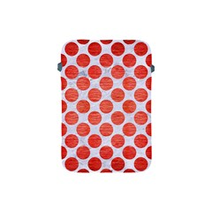 Circles2 White Marble & Red Brushed Metal (r) Apple Ipad Mini Protective Soft Cases by trendistuff