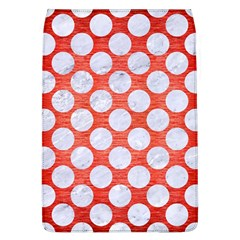 Circles2 White Marble & Red Brushed Metal Flap Covers (l)  by trendistuff