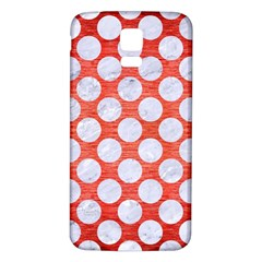 Circles2 White Marble & Red Brushed Metal Samsung Galaxy S5 Back Case (white)