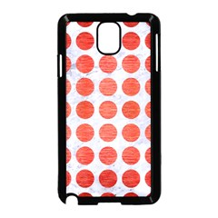 Circles1 White Marble & Red Brushed Metal (r) Samsung Galaxy Note 3 Neo Hardshell Case (black) by trendistuff
