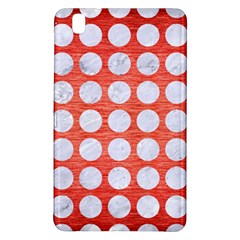 Circles1 White Marble & Red Brushed Metal Samsung Galaxy Tab Pro 8 4 Hardshell Case by trendistuff