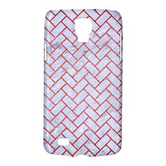 Brick2 White Marble & Red Brushed Metal (r) Galaxy S4 Active by trendistuff