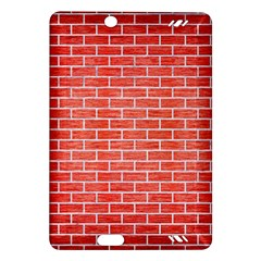 Brick1 White Marble & Red Brushed Metal Amazon Kindle Fire Hd (2013) Hardshell Case by trendistuff