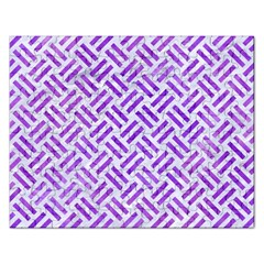 Woven2 White Marble & Purple Watercolor (r) Rectangular Jigsaw Puzzl by trendistuff