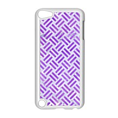 Woven2 White Marble & Purple Watercolor (r) Apple Ipod Touch 5 Case (white) by trendistuff