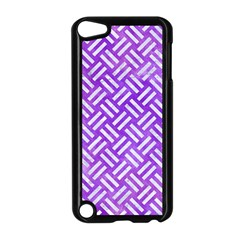 Woven2 White Marble & Purple Watercolor Apple Ipod Touch 5 Case (black) by trendistuff