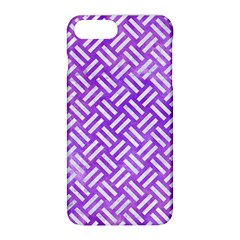 Woven2 White Marble & Purple Watercolor Apple Iphone 8 Plus Hardshell Case