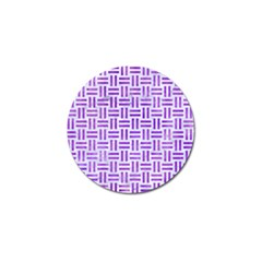Woven1 White Marble & Purple Watercolor (r) Golf Ball Marker (10 Pack) by trendistuff