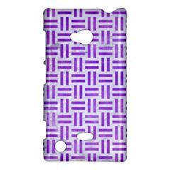 Woven1 White Marble & Purple Watercolor (r) Nokia Lumia 720 by trendistuff