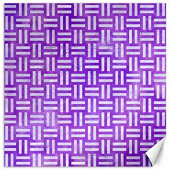 Woven1 White Marble & Purple Watercolor Canvas 20  X 20   by trendistuff