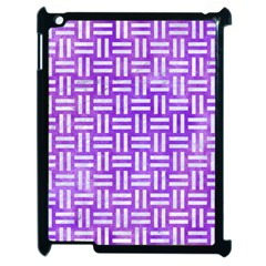 Woven1 White Marble & Purple Watercolor Apple Ipad 2 Case (black) by trendistuff