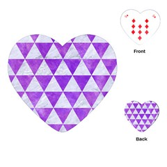 Triangle3 White Marble & Purple Watercolor Playing Cards (heart)  by trendistuff