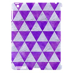 Triangle3 White Marble & Purple Watercolor Apple Ipad 3/4 Hardshell Case (compatible With Smart Cover) by trendistuff