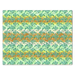 Colorful Tropical Print Pattern Rectangular Jigsaw Puzzl by dflcprints