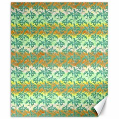 Colorful Tropical Print Pattern Canvas 20  X 24   by dflcprints
