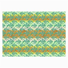 Colorful Tropical Print Pattern Large Glasses Cloth (2 Side) by dflcprints