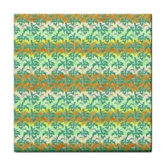Colorful Tropical Print Pattern Face Towel by dflcprints