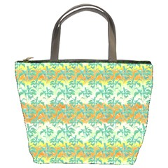 Colorful Tropical Print Pattern Bucket Bags by dflcprints