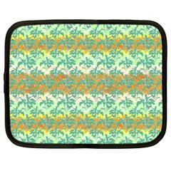 Colorful Tropical Print Pattern Netbook Case (xxl)  by dflcprints