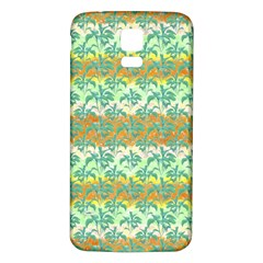 Colorful Tropical Print Pattern Samsung Galaxy S5 Back Case (white) by dflcprints