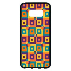 Artwork By Patrick Squares 4 Samsung Galaxy S8 Plus Black Seamless Case