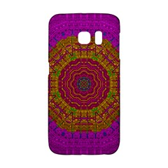 Summer Sun Shine In A Sunshine Mandala Galaxy S6 Edge by pepitasart