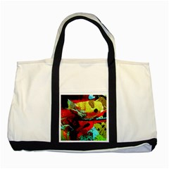 Yellow Dolphins   Blue Lagoon 4 Two Tone Tote Bag by bestdesignintheworld