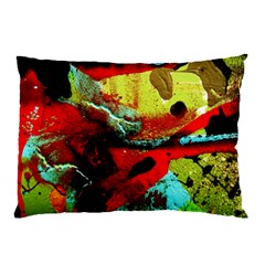 Yellow Dolphins   Blue Lagoon 4 Pillow Case