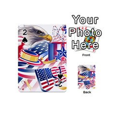 United States Of America Usa  Images Independence Day Playing Cards 54 (mini)  by Sapixe